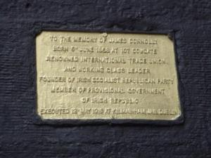 Connolly's plaque in Edinburgh's Cowgate