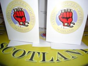 Specially printed JCS A5 greeting cards for political prisoners.