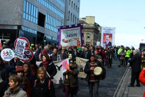 Great turnout from across Edinburgh for march against the bedroom tax.