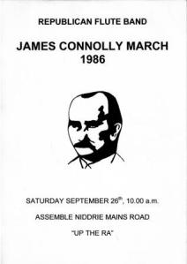 Poster for first James Connolly march in 1986.